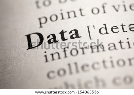 Fake Dictionary, Dictionary definition of the word Data.
