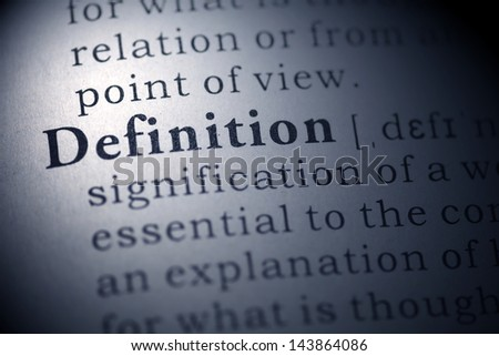 Fake Dictionary, Dictionary definition of the word definition.  - stock photo