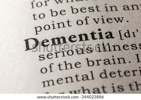 Fake Dictionary, Dictionary definition of the word dementia