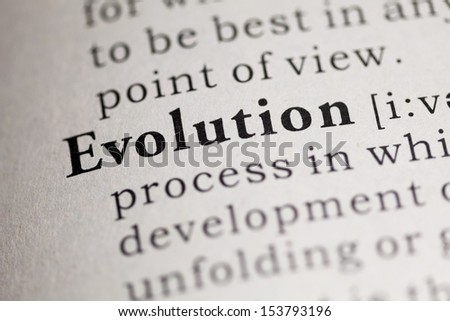 Fake Dictionary, Dictionary definition of the word Evolution.