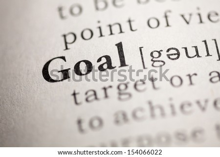 Fake Dictionary, Dictionary definition of the word Goal.