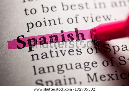 Fake Dictionary, Dictionary definition of the word spanish.