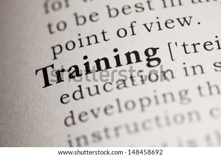 Fake Dictionary, Dictionary definition of the word Training.