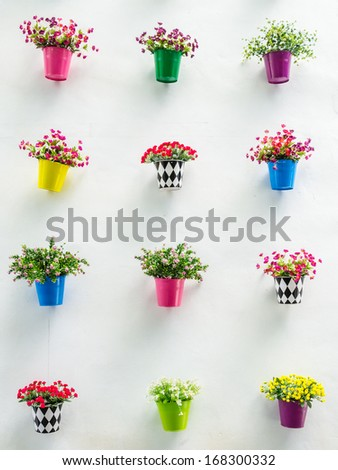 Fake flower in the vase - stock photo