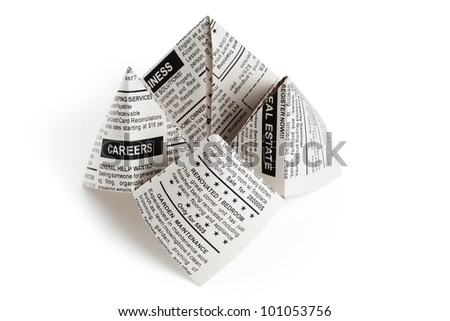 Fake Newspaper, Fortune Teller business concept. - stock photo