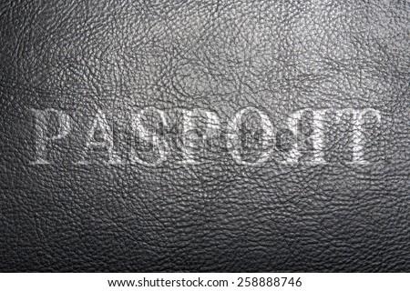 Fake passport - stock photo