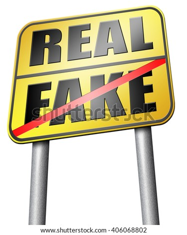 fake versus real possible or impossible reality check searching truth being skeptic skepticism - stock photo