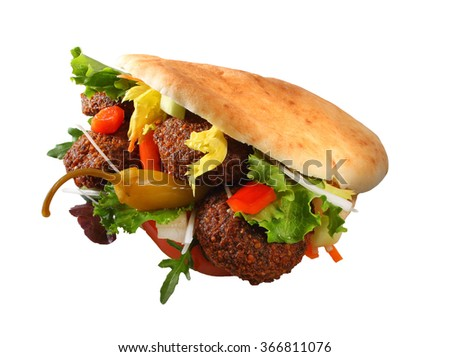 falafel - stock photo