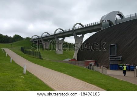 Falkirk Wheel in Scotland - stock photo