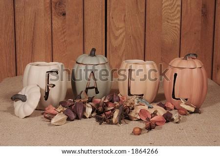 fall arrangement - stock photo