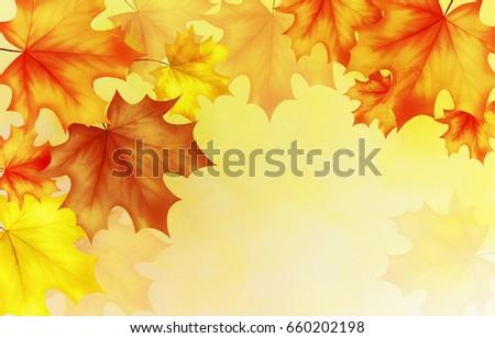 fall autumn background autumn leaves background stock illustration