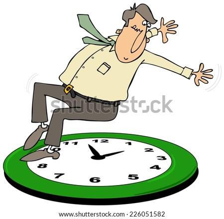 Fall back daylight savings time - stock photo