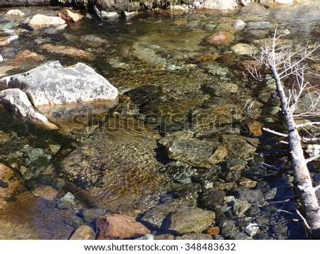 Fall came quietly like a flowing stream - stock photo