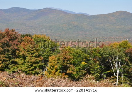 Fall Colors at the White Mountain National Forest in New Hampshire - stock photo