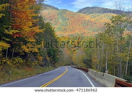 Fall colors, autumn foliage in the Adirondacks, New York State
