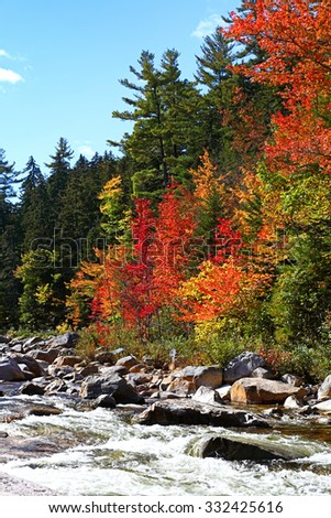 Fall Colors in New Hampshire - stock photo