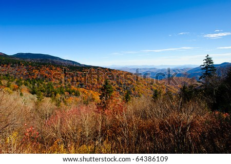 Fall colors in the North Carolina mountains