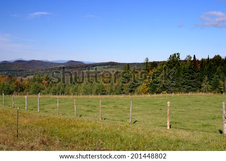 Fall foliage at Vermont, USA  - stock photo