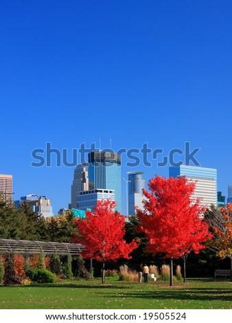 fall in Minneapolis - stock photo