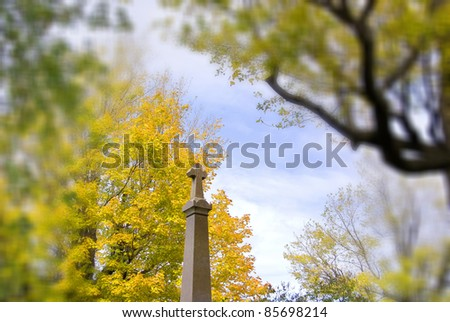 Fall landscape - stock photo