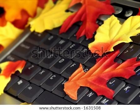 Fall Laptop - stock photo