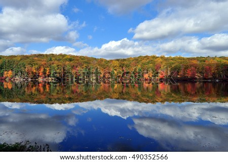 Fall reflection in lake
