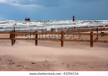 Fall storm on Lake Michigan