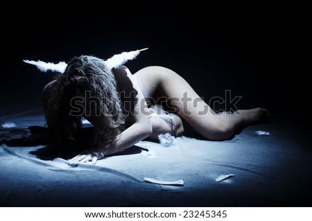 fallen angel - stock photo