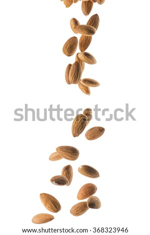Falling Almond - stock photo