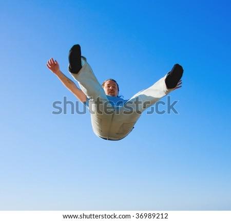 Falling down! - stock photo
