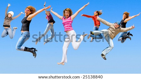 Falling from the sky - stock photo