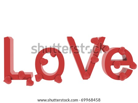 Falling in Love. 3D render celebrations concepts. - stock photo