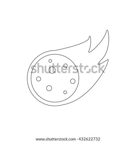 Falling meteorite  icon, isometric 3d style  - stock photo