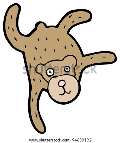 falling monkey cartoon - stock photo
