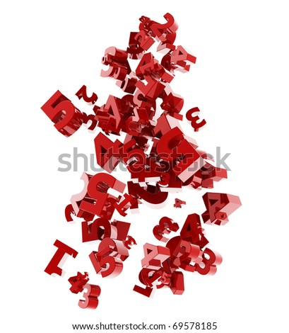 Falling numbers - stock photo