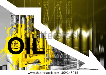 Falling oil prices in the world. Trend of of cheap fuel. - stock photo