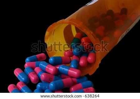 Falling Pills - stock photo