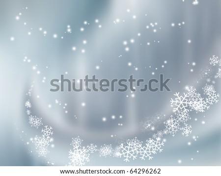 falling snow  background - stock photo