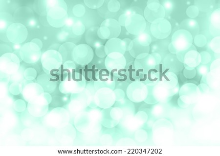 Falling snow in winter abstract background.Cyan abstract background. - stock photo