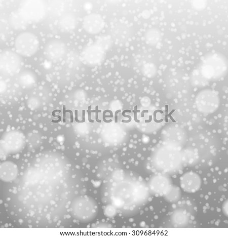 falling snow on the gray - image art grey