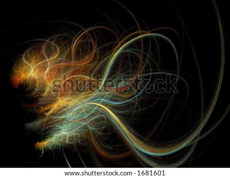 Falling Star - stock photo