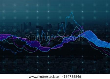 Falling stock market. - stock photo