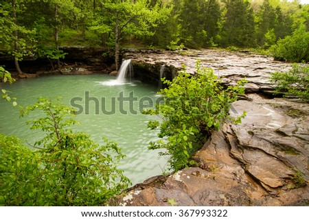 Falling Water Falls is located on Falling Water Creek in Arkansas - stock photo