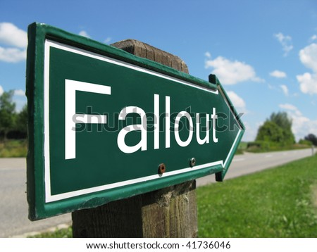 FALLOUT road sign
