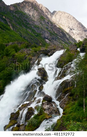 Falls in mountains, Norway