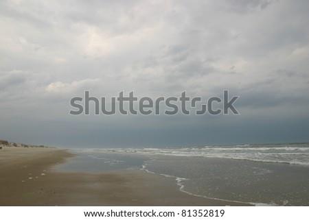 False Cape Beach Clouds - stock photo
