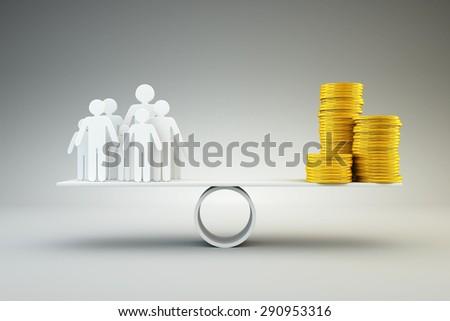 Family and money - stock photo