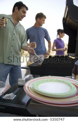 Family BBQ - stock photo