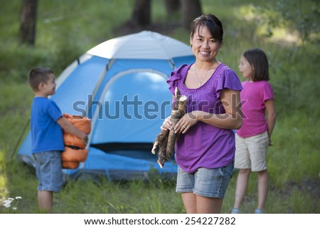 Family Camping - stock photo