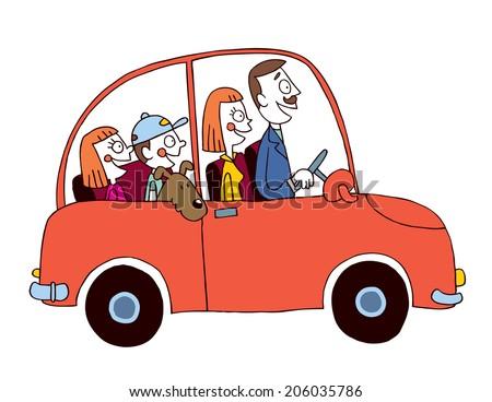 family car - stock photo